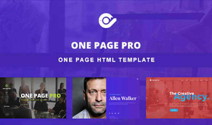 One Page Pro Template one-page single-page website web design inspiration ui ux