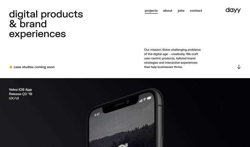 dayy one-page single-page website web design inspiration ui ux