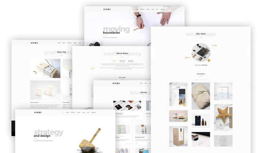 Eleos One-Page Creative Template single-page website web design inspiration ui ux