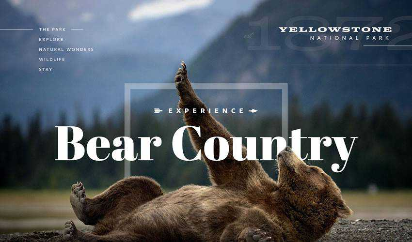 Yellowstone NP Full one-page single-page website web design inspiration ui ux