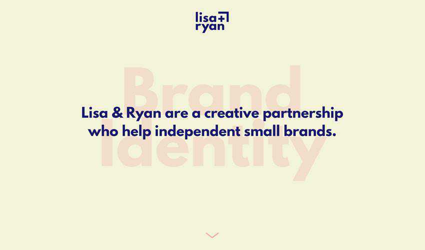 Lisa Ryan one-page single-page website web design inspiration ui ux