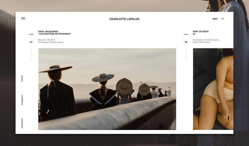 photographer portfolio camera website web design inspiration ui ux