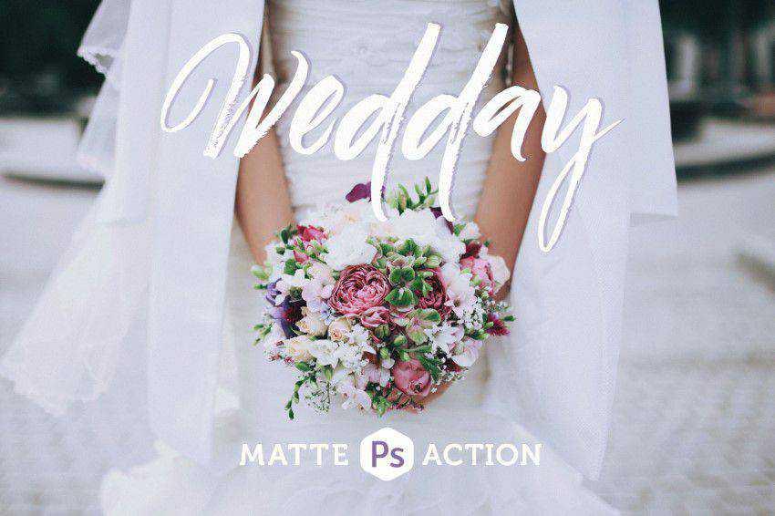 Wedday Matte Photoshop Action