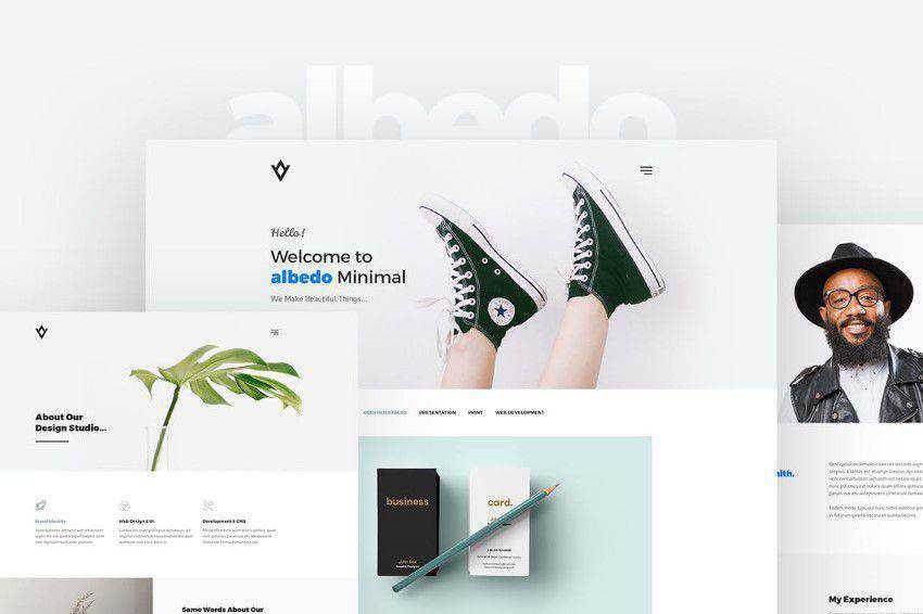Albedo PSD şablonu photoshop web tasarımı