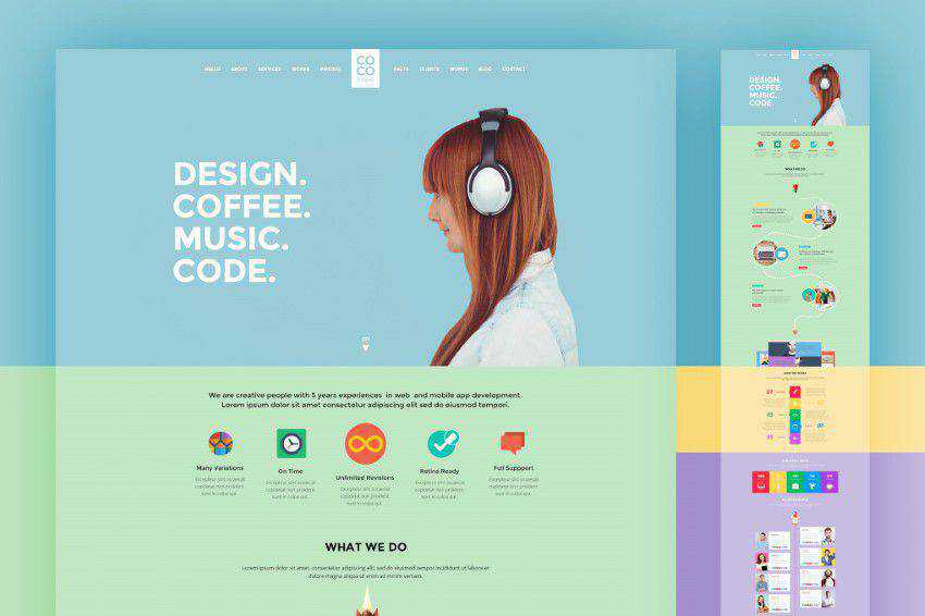Coco-Creative PSD template photoshop web design