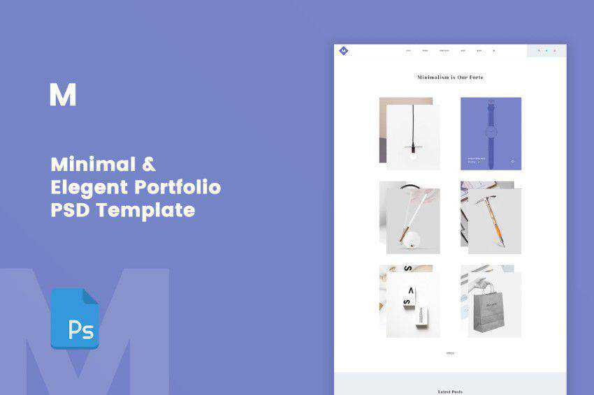 M-Minimal PSD template photoshop web design