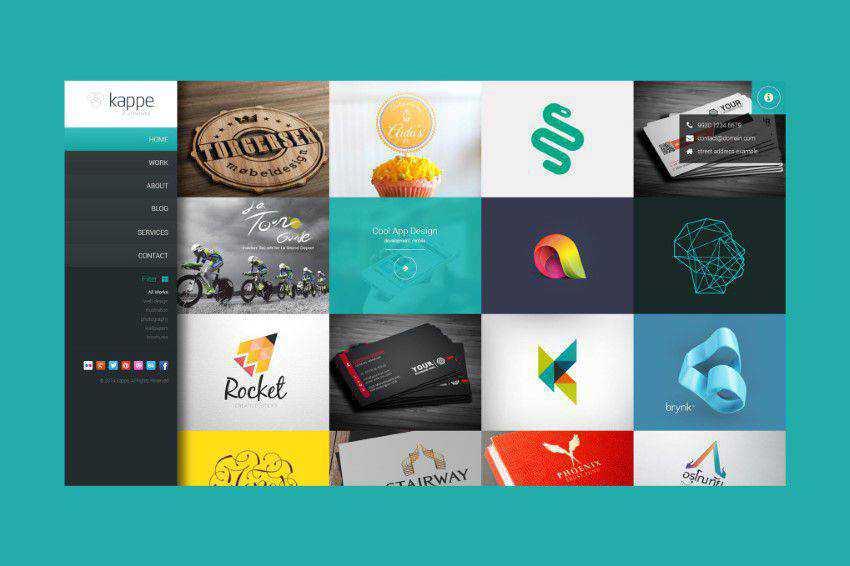 Kappe PSD şablonu photoshop web tasarımı