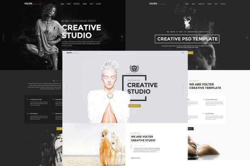 Volter PSD şablonu photoshop web tasarımı