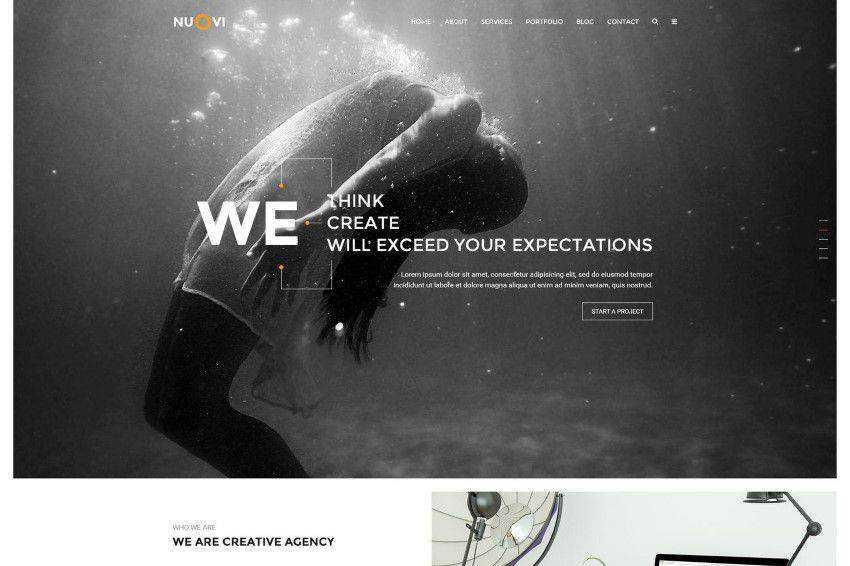 Nuovi PSD şablonu photoshop web tasarımı