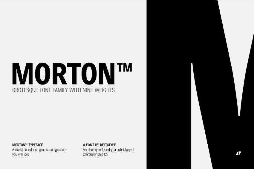 Morton quirky creative font