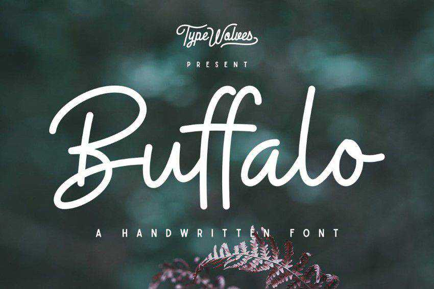 Buffalo quirky creative font