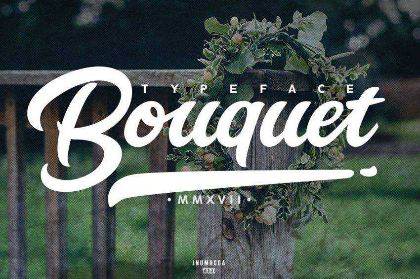 Bouquet Typeface quirky creative font