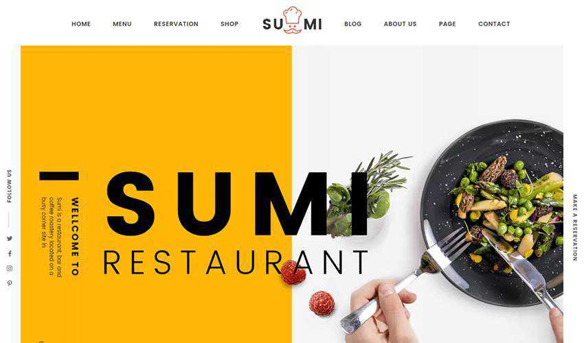 Sumi restaurant food drink website web design inspiration ui ux
