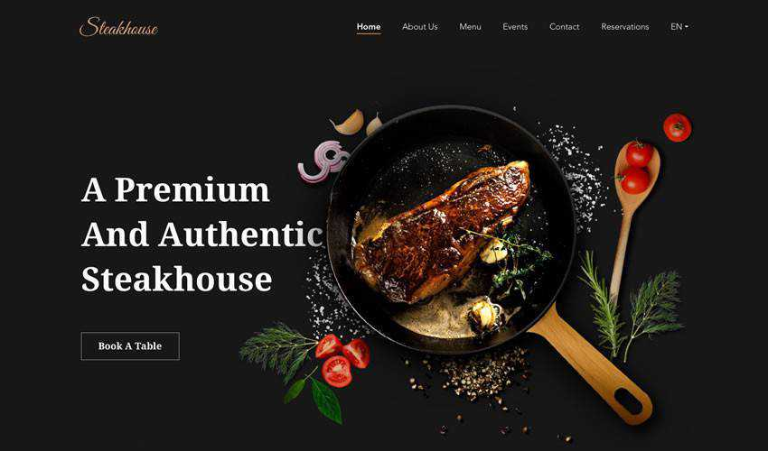 Steakhouse restaurant food drink website web design inspiration ui ux