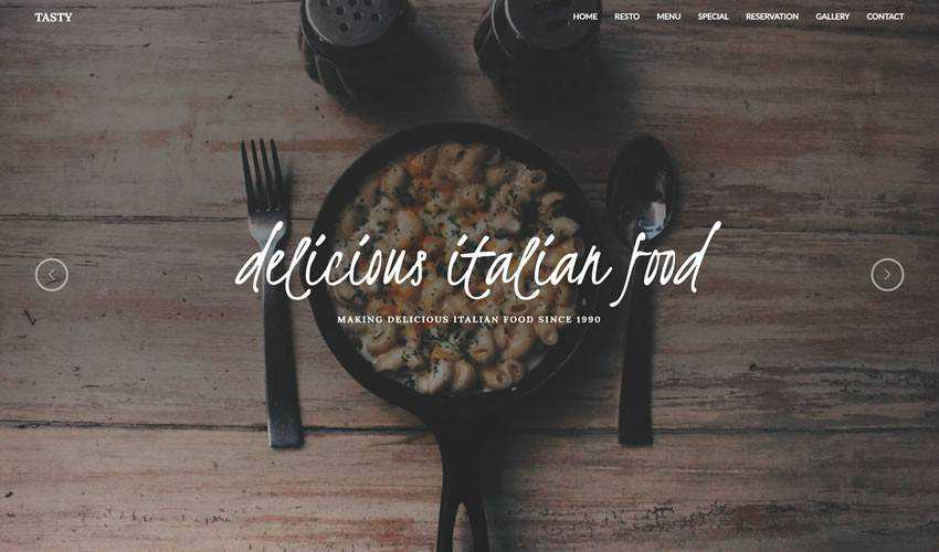 tasty restaurant food drink website web design inspiration ui ux