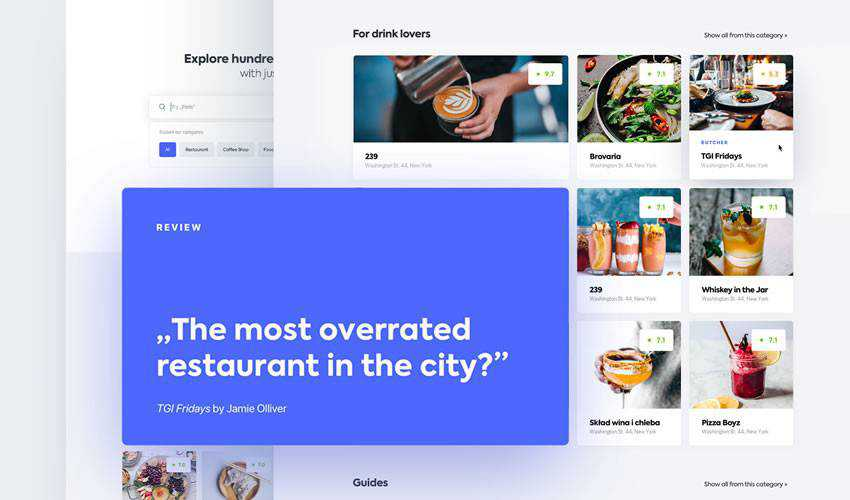 Detective restaurant food drink website web design inspiration ui ux
