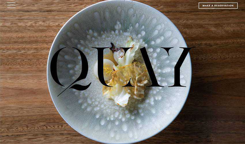 Quay Restaurant Sydney food drink website web design inspiration ui ux