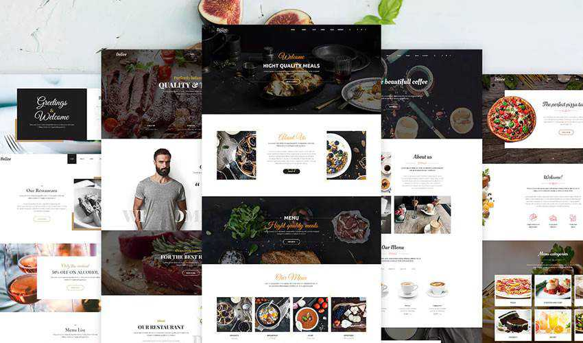 Delice restaurant food drink website web design inspiration ui ux