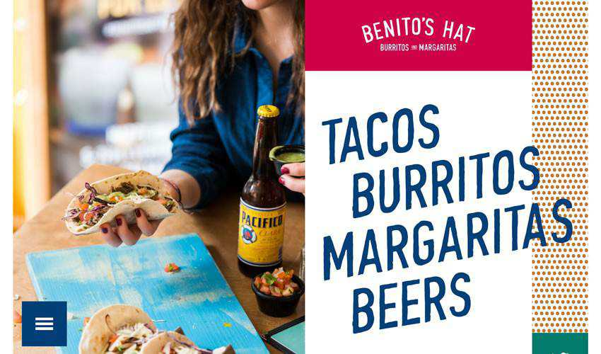 Benito Hat restaurant food drink website web design inspiration ui ux