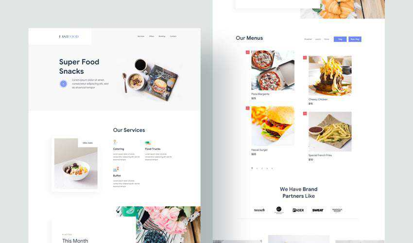 Landing Concept restaurant food drink website web design inspiration ui ux