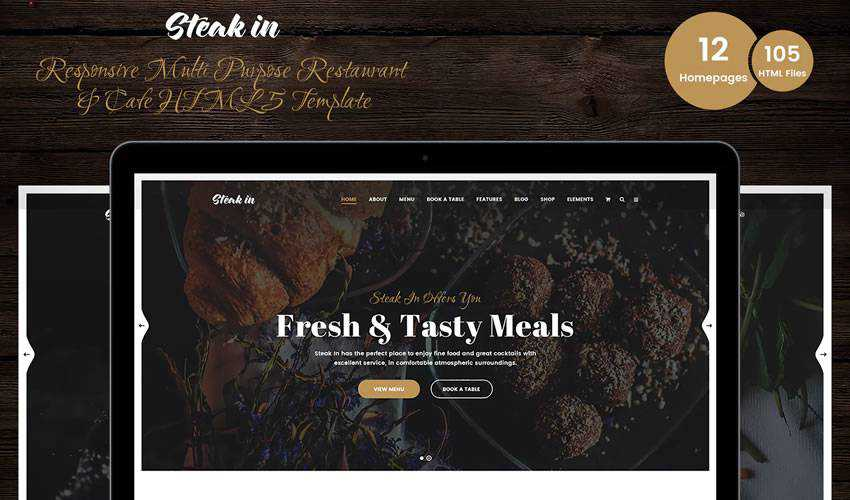 Steak In cafe restaurant food drink website web design inspiration ui ux
