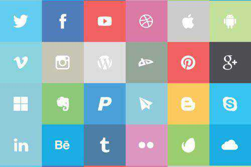 Free Flat Social Icon Set in AI, EPS & PNG Formats