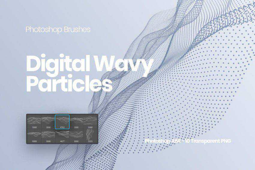 Digital Particles Photoshop Brushes