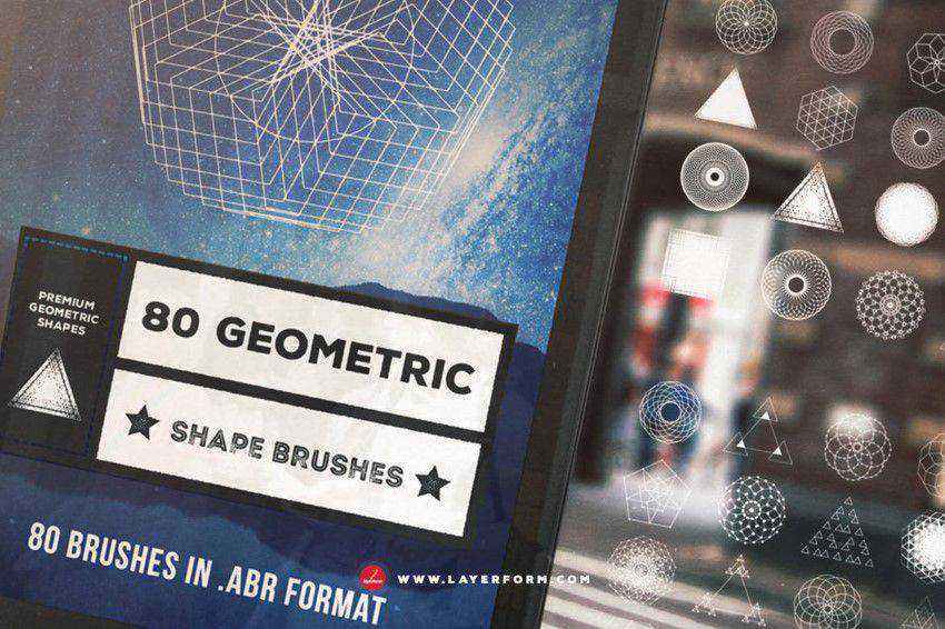 geometric shape brushes
