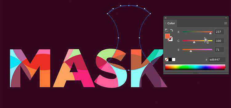 Colorful Pattern Masking in Illustrator