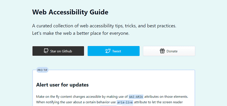 Web Accessibility Guide