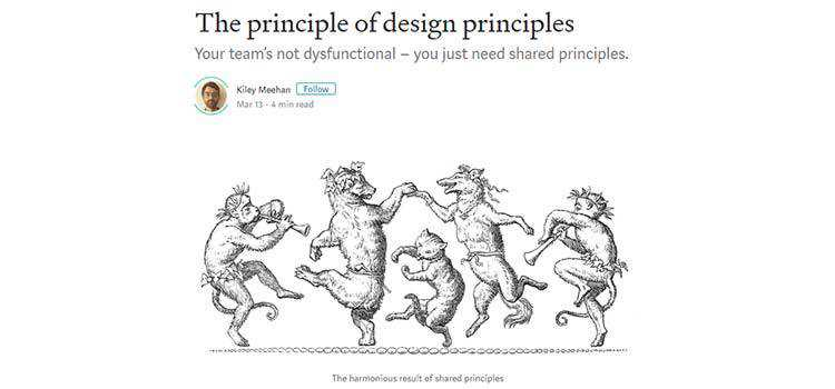 The principle of design principles