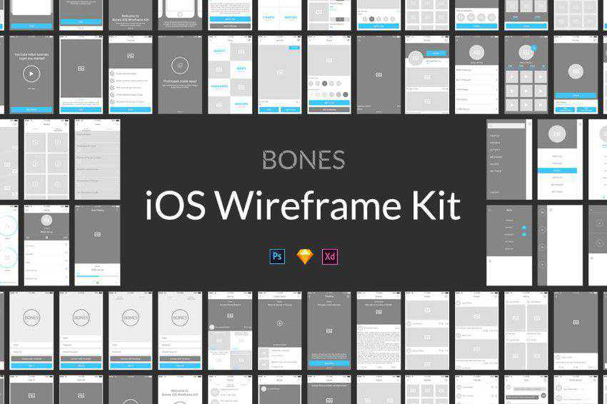 Bones-IOS-Wireframe-Kit