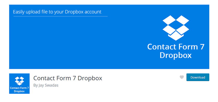 Contact Form 7 Dropbox