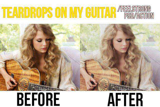 Teardrops on My Guitar template photography coloring