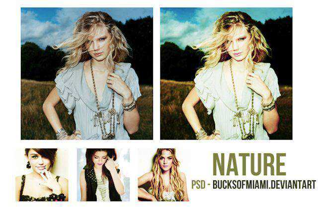 Nature psd color template free