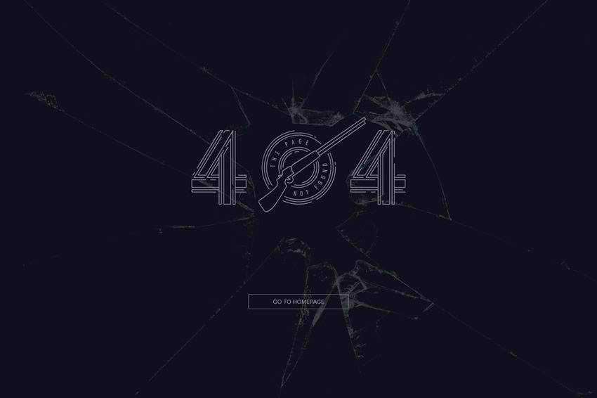 Clay Shooting 404 page not found web design inspiration
