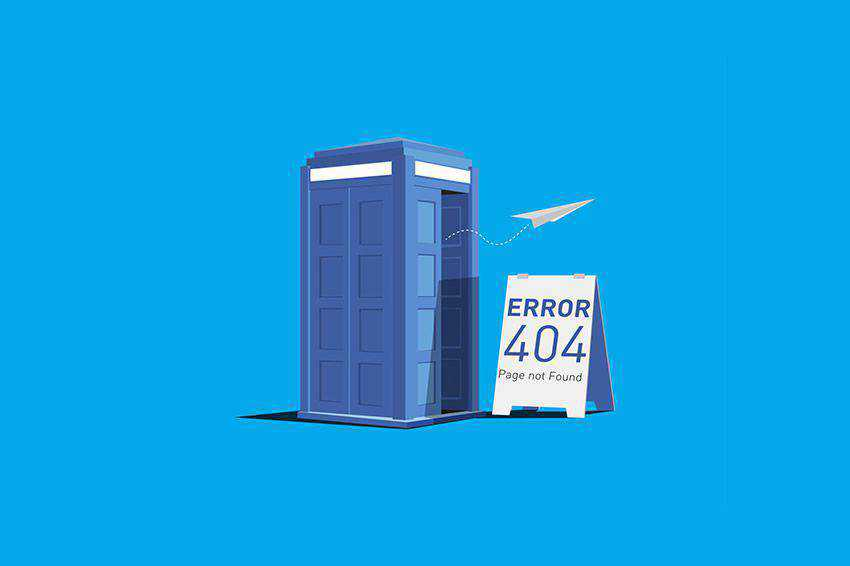 Doctor Who Illustration 404 page not found web design inspiration