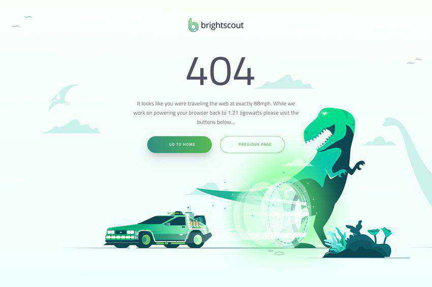 404 page not found web design inspiration