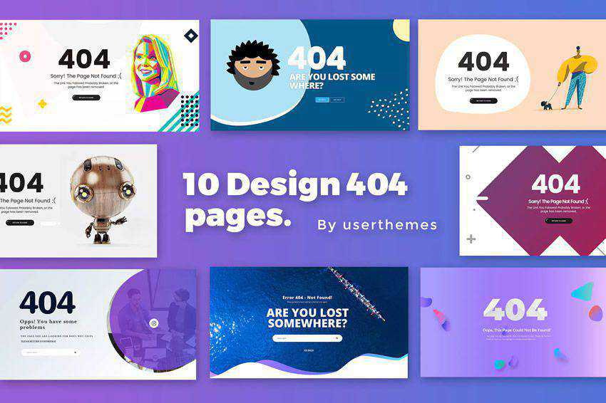 Creative 404 Page Collection not found web design inspiration