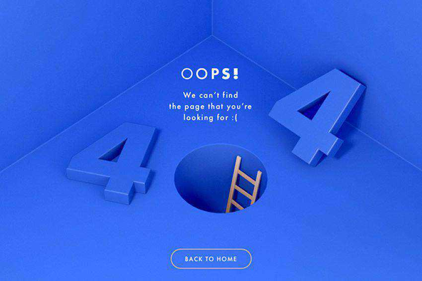 Oops We can't find the page 404 page not found web design inspiration