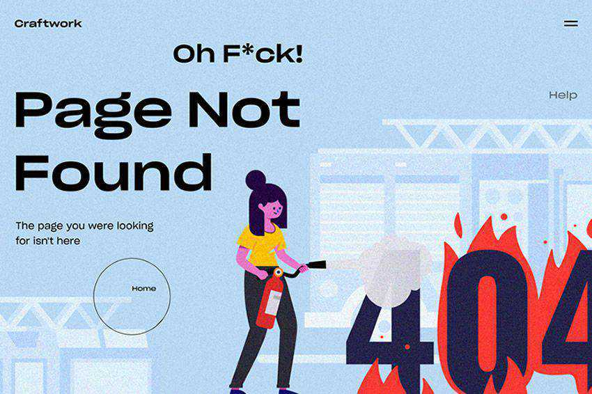 Oh F*ck! 404 page not found web design inspiration