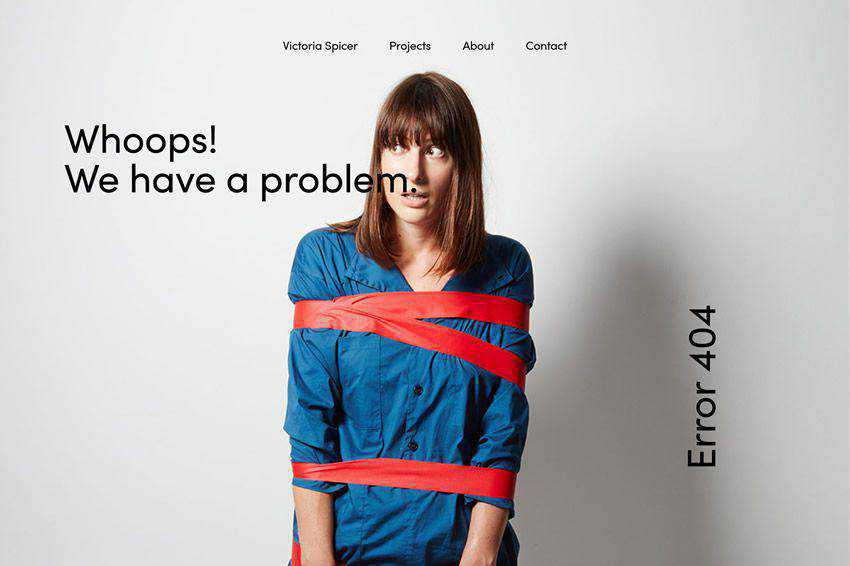 Whoops We have a problem 404 page not found web design inspiration