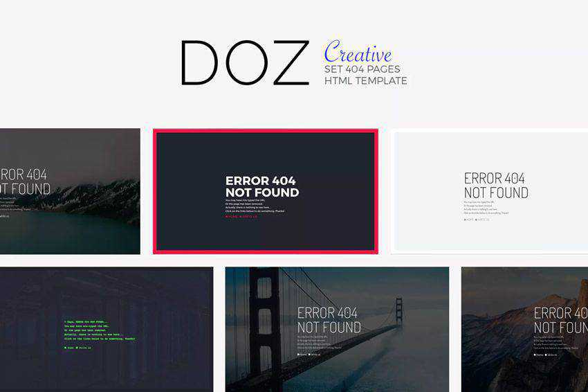 DOZ - Creative 404 Pages not found web design inspiration