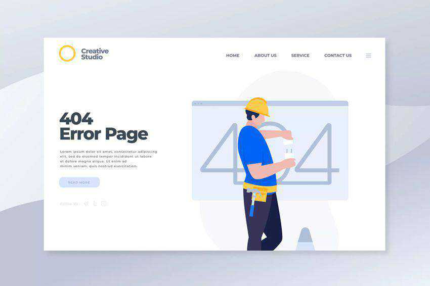 error 404 page not found web design inspiration