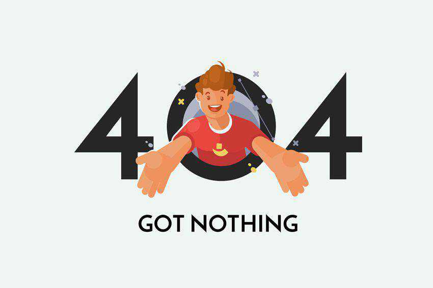 Got Nothing 404 page not found web design inspiration