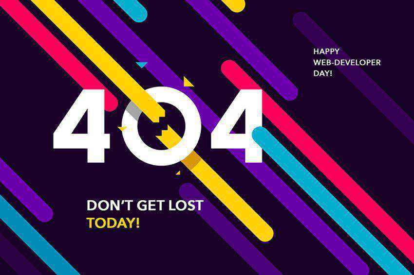 happy 404 page not found web design inspiration