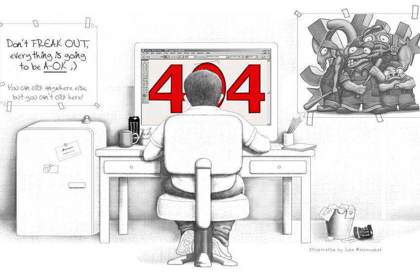 Oh Snap Error 404 page not found web design inspiration