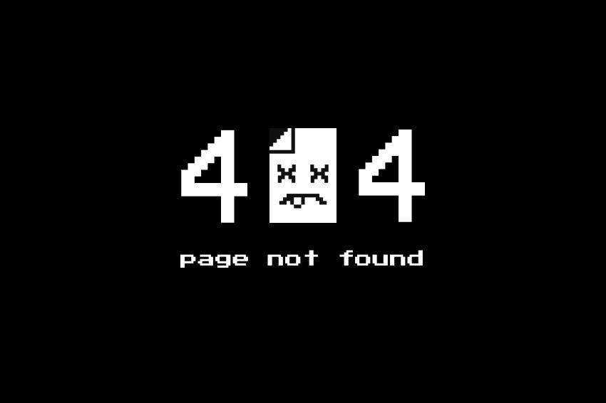 Broken Page 404 page not found web design inspiration