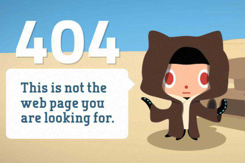 This is not the page you are looking for 404 page not found web design inspiration