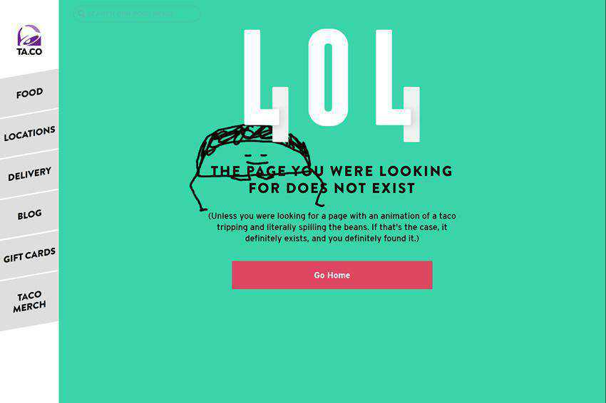 50 Creative Examples of 404 Pages in Web Design